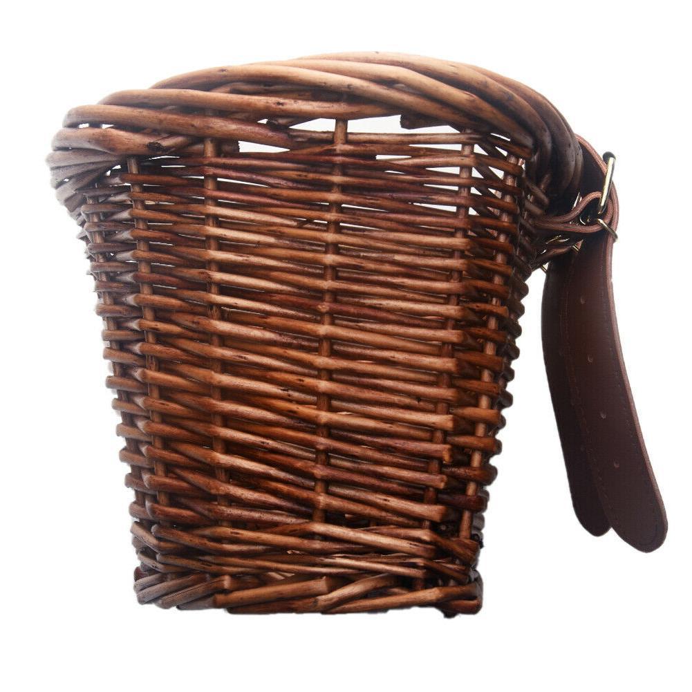 Hand-made Wicker Handlebar Leather