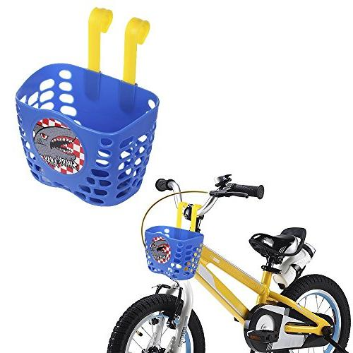 Small Bicycle Front Basket For Kids Bike Cycle Plastic Red Childrens Kids Basket