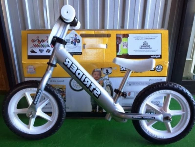 kids 12 pro balance bicycle silver new