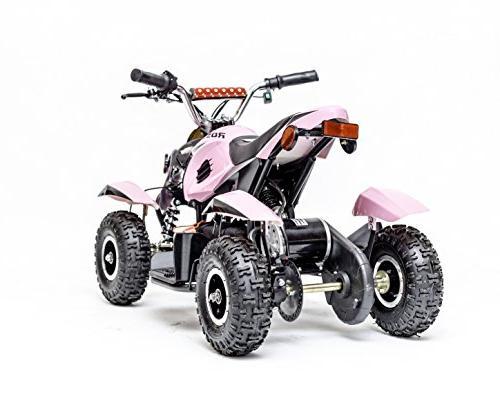 Kids Quad 4 Wheeler Ride with 36V Battery for Girls, Disc System