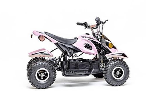 Rosso Kids Quad Wheeler Ride with 36V Electric Lights in for Girls, System