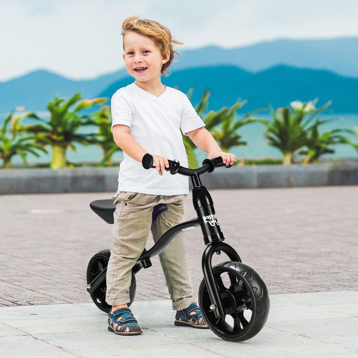 "12"" Classic Childrens Balance Bike No Pedal Toddler Push Bic"