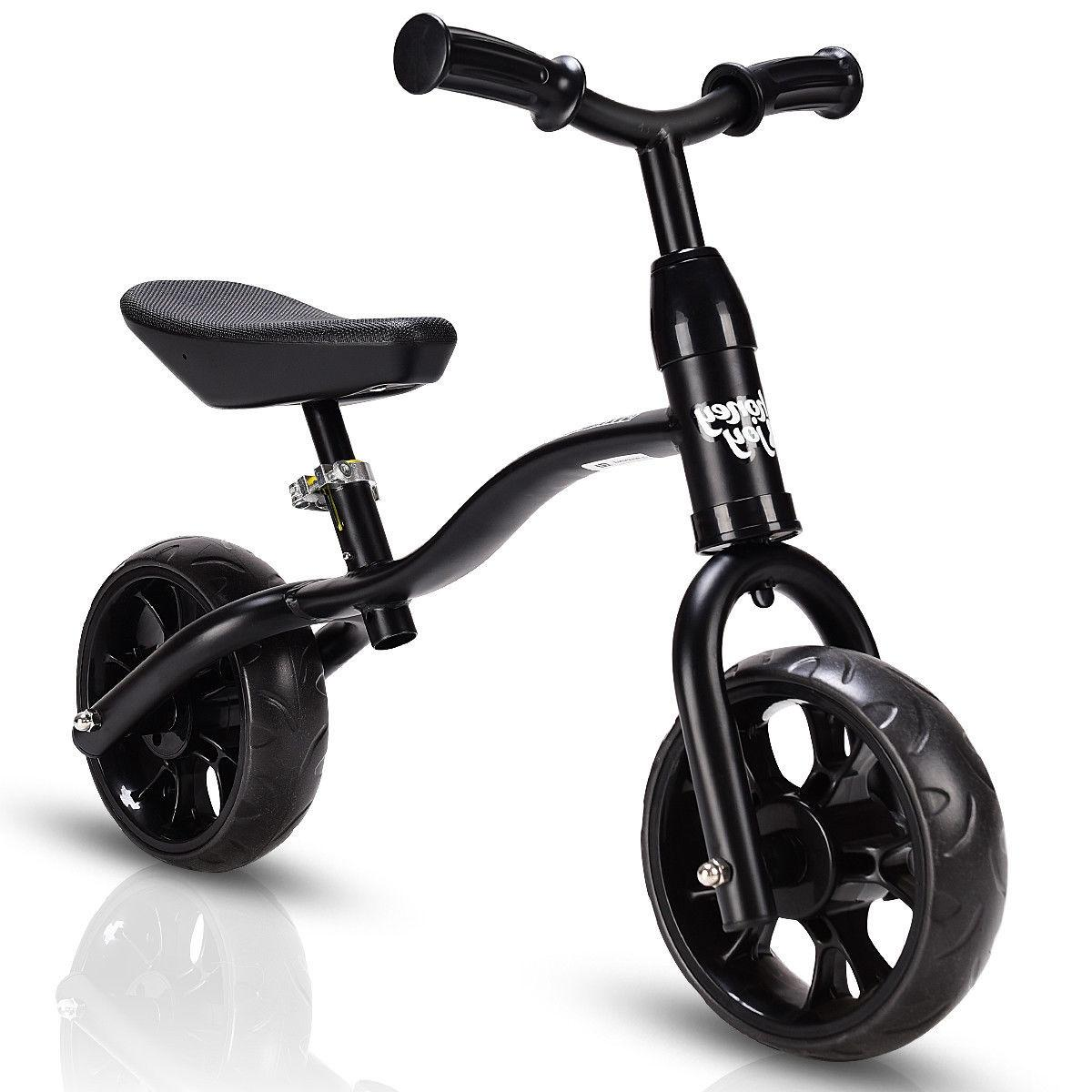 Kids Sport No-Pedal w/ Adjustable Seat Black