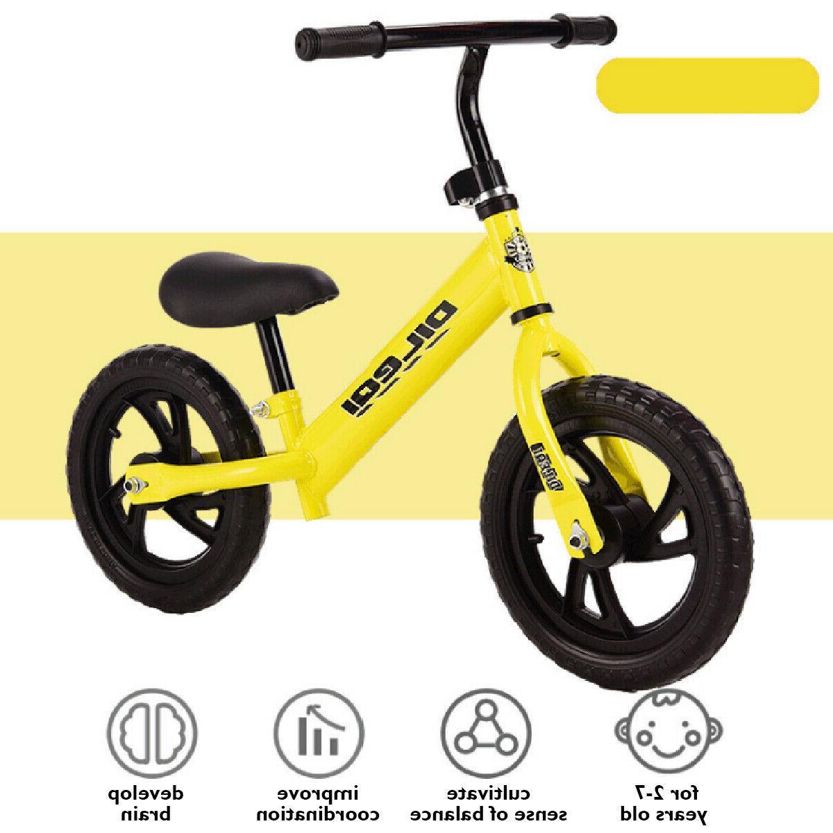 Kids Balance Bike No Pedal Childs Bicycle w/ Adjustable Seat
