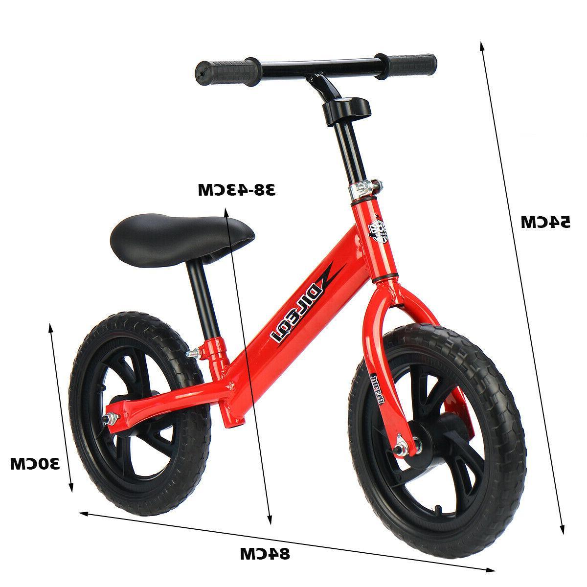 Kids Balance No Pedal Bicycle w/ Seat