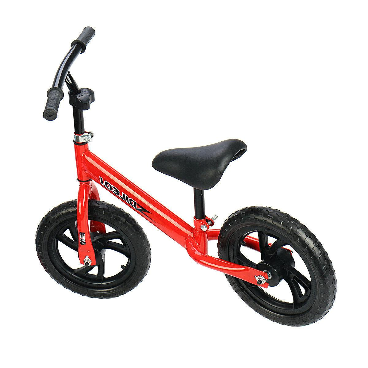 Kids Balance Walker No Pedal Childs Training Bicycle Toy Adjustable Seat