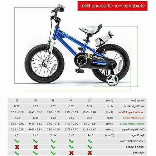 RoyalBaby Kids Boys Girls Freestyle Bicycle with Blue, Blue