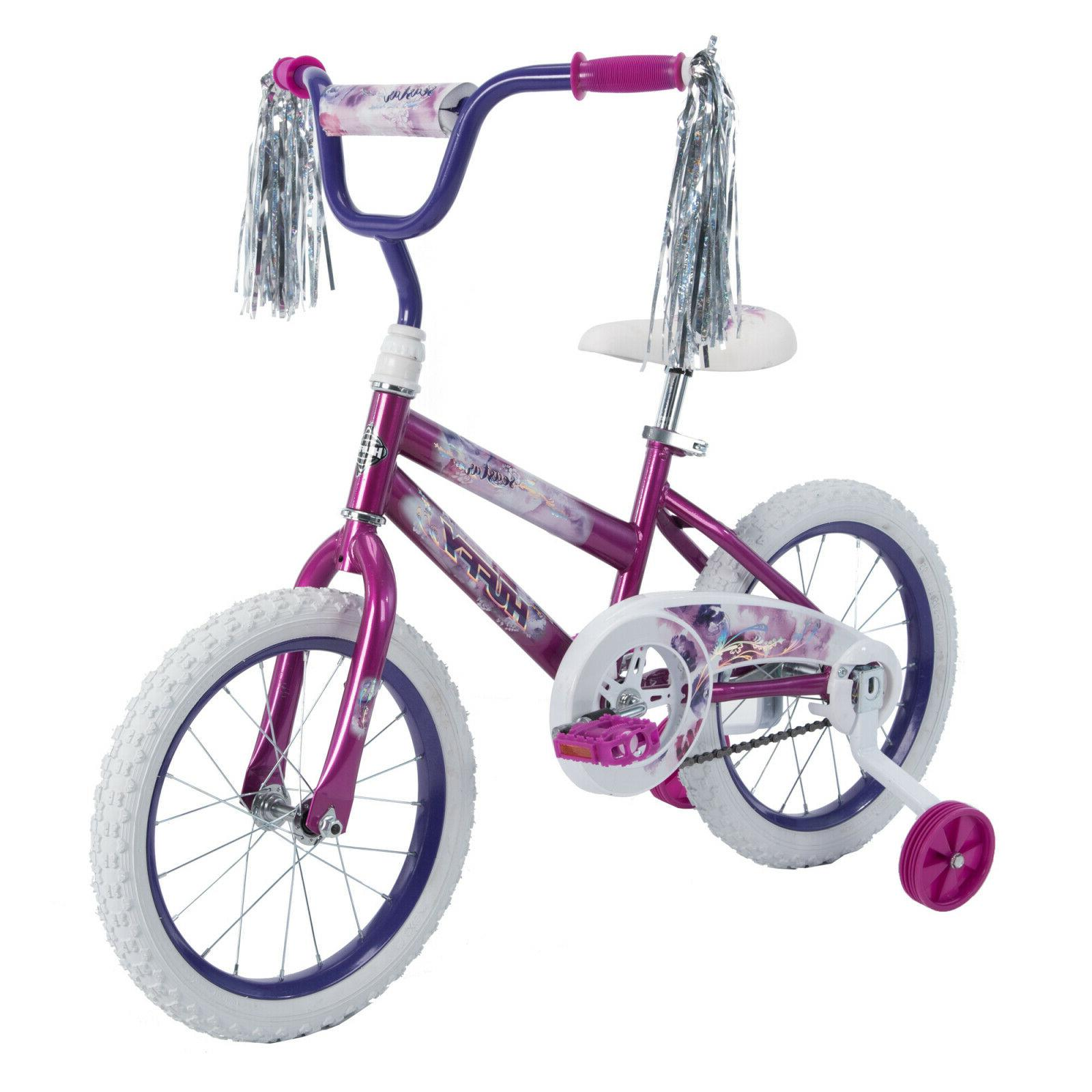 "Kids Bike Girls Boys 16"" Training Wheels Riding Ride On Outd"