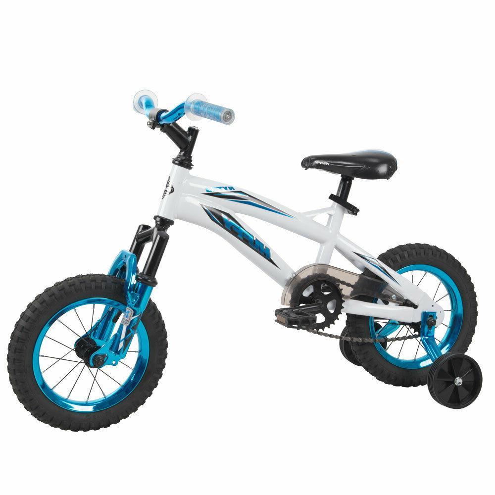 kids boys girls bike 12 inch white