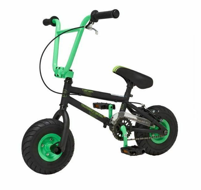 kids mini bmx trick bike green fat