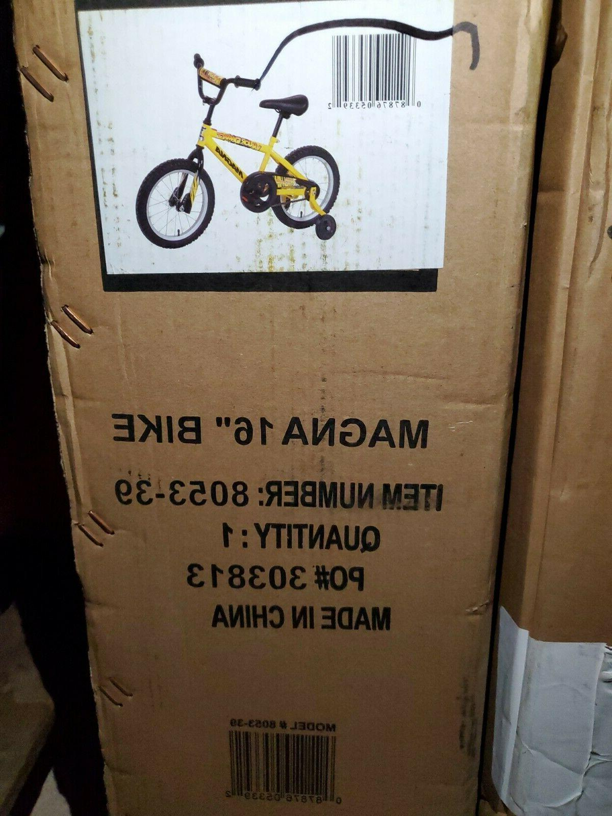 Dynacraft Magna Bike inch - Yellow/Black