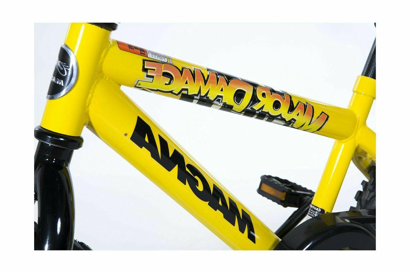 Dynacraft Major Damage Bike for Boys inch Yellow/Black