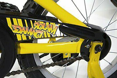 "Dynacraft Magna Major Boys BMX Bike 16"", Yellow/Black"