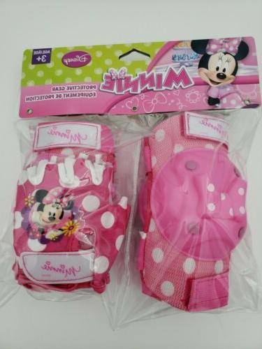 Disney Minnie Mouse protective Gear And Bicycle Bell set