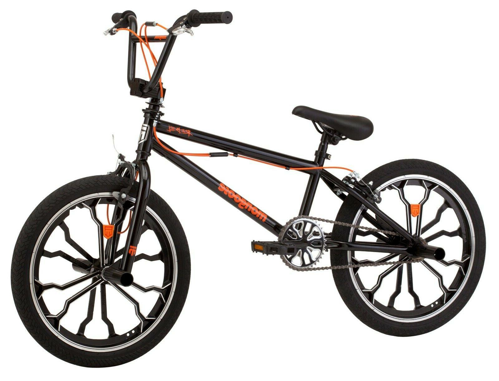 Mongoose Rebel Freestyle Kids BMX Bike  20-inch mag wheels a