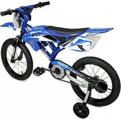 "NEW 16"" Moto Bicycle Child Bikes Boys Girls Blue"