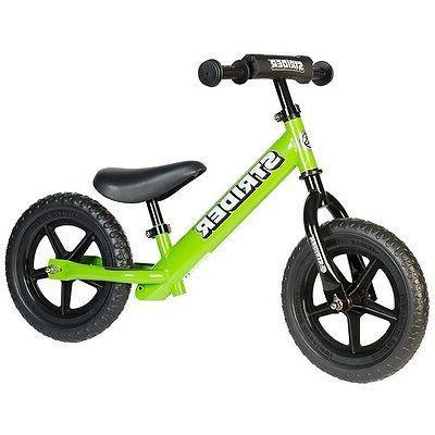NEW STRIDER BALANCE BIKES 12'' KIDS BMX GREEN FREE