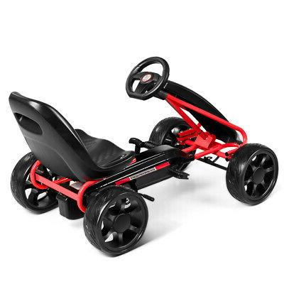 Pedal Kids Toys with Wheels and Adjustable Black