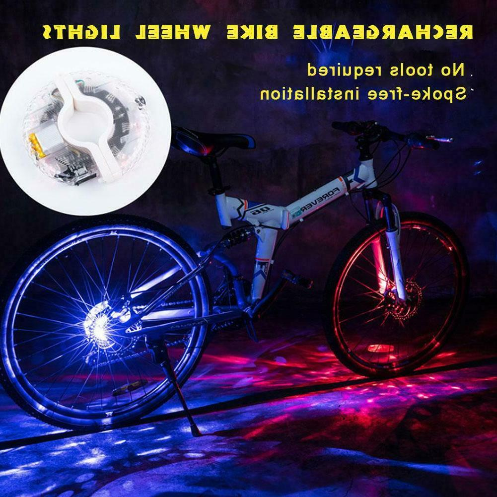 Rechargeable Bike Wheel Light Kids Bicycle Spoke Light Safet