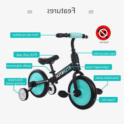 US 12'' Kids Balance Bike Ride Walking Detachable