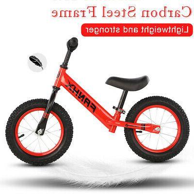 12'' Baby Kids Balance Bike No-Pedal Carbon Steel