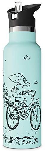 with Double Stainless Metal Thermos Eco Non 20oz for Bike