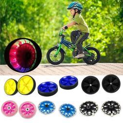 LED Light Safety Kids Bicycle Adjustable Wheels Bike Stabili