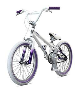 Mongoose Legion LXS Girl's BMX Bike, 20-Inch Wheels, White