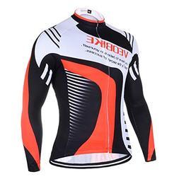 Adisaer Sports Long-Sleeved Bicycle Cycling Shirt L 3D Padde