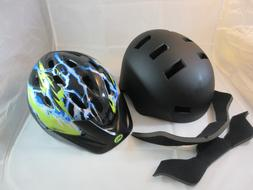 Lot of 2 Bike Helmets: Adult Critical Cycles LARGE Black & B