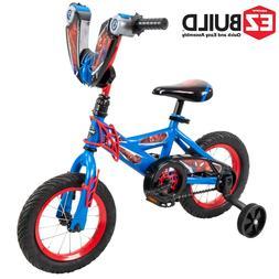 "Marvel Spider-Man 12"" Boys' EZ Build Bike for Kids by Huffy"