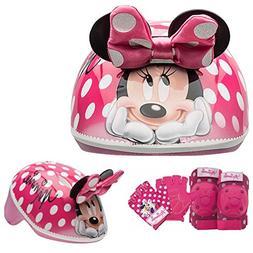 Disney Girls Minnie Mouse Kids Skate / Bike Helmet Pads And