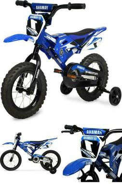 "Moto Yamaha 16"" Moto BMX Boys Bike, Blue Steel Frame Kids Bi"