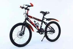 Mountain Bike for Kids 20 inch Steel Frame Disc Brake Bicycl