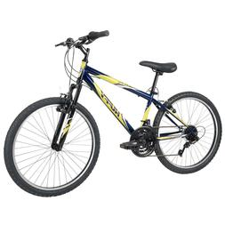 Huffy Mountain Bikes Kids 24 inch 18 Speed Incline, Blue or