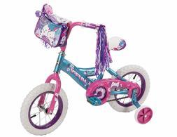 """New 12"""" Huffy Petal Power Girls' Bike Coaster Brake Bicycle"""