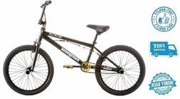 "New 20"" Mongoose Boy Freestyle Bike Black Outdoor Kids Bicyc"