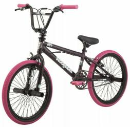 "New Mongoose 20"" FSG BMX Girls Bike Black Pink"