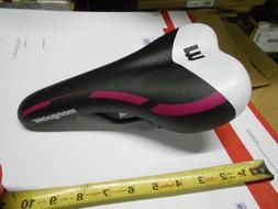 New Mongoose Bike Seat BLACK Magenta White Bicycle Saddle MT
