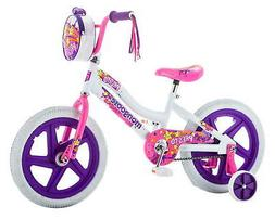 "new Mongoose Girls Presto Bicycle with 16"" Wheels, White bik"