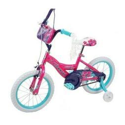 """NEW Huffy Glitter 16"""" Kids Bike - Pink/Teal"""