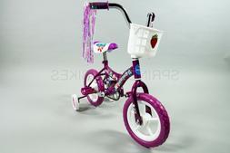 New in Box 12 inch Girls Bike Purple with Training Wheels Ki