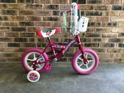 New in Box 12 inch Girls Bike Pink with Training Wheels Kids