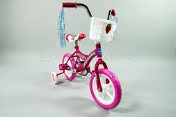 New in Box 12 inch Girls Bike Pink with Training Wheels Kids