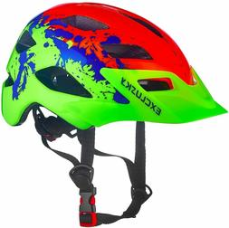 New Exclusky Kids Bike Helmet, Lightweight Youth Roller Skat