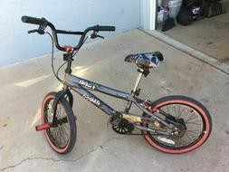 "Kent 18"" Abyss FS18 Boys' BMX Kid's Bike Silver Steel Frame"