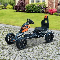 Outdoor Toy Gift w/Hand Brake Pedal Go Kart Ride-on Kids Car