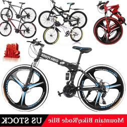 Outroad Mountain Bike 21 Speed 26in 20in Folding Bike Double
