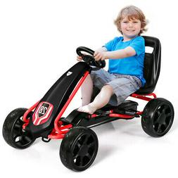Pedal Go Kart Kids Bike Ride on Toys with 4 Wheels and Adjus