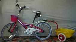 "Princess Custom 20"" Trek aluminum bike w trailer for girls A"